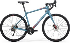 Гравийный велосипед Merida SILEX 4000 (2021) matt steel blue(glossy red)
